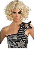 NEW LADY GAGA Curly Hair Blonde Wig Officially  Licensed Costume Adult