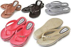 Women Summer Sandal Shoes Toe Post Flat Comfy Flip Flop Sliders Mules Slipper