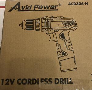 Avid Power Cordless Drill - ACD306-N- New Open Box-