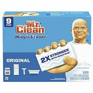 Mr Clean Magic Eraser Original, Cleaning Pads with Durafoam, 9 Count