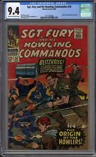 Sgt. Fury and His Howling Commandos #34 CGC 9.4 (OW-W) Origin Issue