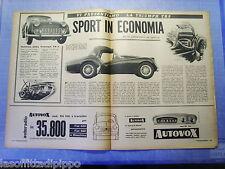 LAUTOM959-RITAGLIO/CLIPPING-ROAD IMPRESSION-1959- TRIUMPH TR3