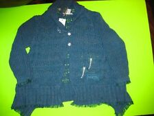 NWT NEw Naartjie Teal Glee Sparkly Cardigan Sweater Size 2t Holiday 2012