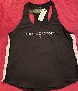 PINK SODA SPORT Plus Size Womens Tape Tank Top Size 2X BNWT