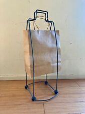 Vintage Designer Classic Paper Trash Bag Holder, Metal