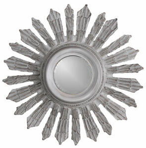 Star Antique Mirror 70cm Hanging Shabby Chic Wall Mirror Deco Sun