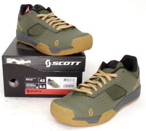 Scott MTB AR Mountain Bike Flat Pedal Shoes Moss Green Men's Size 8.5 US / 42 EU