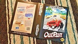 BOX ART ONLY Outrun 1 I  Original Sega Genesis Case Sleeve