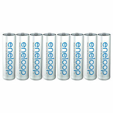 8 PILES ACCU PANASONIC RECHARGEABLE AA LR06 1.2V 1900mAh Ni-Mh BATTERY BATTERIE