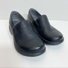 Womens Dansko Winona Black Milled Nappa Leather Clogs 40