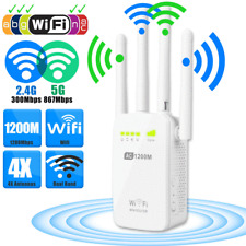 1200Mbps Dual Band 2.4/5G Wireless Range Extender WiFi Repeater Router 4 Antenna