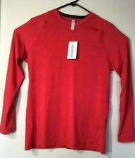Lavento Men's Long sleeve Compression Shirt Red Crew neck Sz Xl