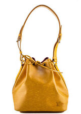 AUTH LOUIS VUITTON Yellow Epi Leather Gold Tone Noe Tote Handbag BP2728 MHL