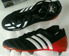 Adidas football boots Manado TRX SG UK 5 new in box black red blades + tags vtg
