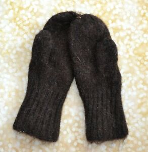 NEW MEN'S MITTENS 100% sheep wool HAND Knitted warm thick winter Russian