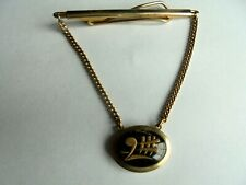 a Charm on a Chain Vintage Goldtone Tie Bar Clip with