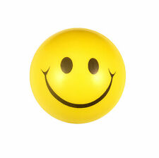 Happy Yellow Foam Ball Smiley Face Squeeze Bouncy Stress Relief Toy Kids