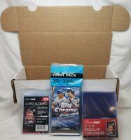 2020 TOPPS CHROME Baseball Cello 25 Ultra Pro Toploaders 100 Sleeves & 550ct Box
