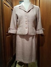 Ladies Vintage Look 2 Piece Suit Fully Lined Pink Size 18 by Studio 1 New W Tag