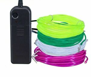 Flexible Neon Light 3v Glow El Wire Rope Tape Cable Strip Led Neon Lights Shoes