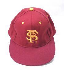 best service b7abb d7d1c New Era Flat Bill Baseball Cap Florida State Seminols Baseball Hat Red Gold