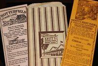 Knott's Berry Farm 1950's - 1960's Lot of 3 Items Vintage Tickets + Postcard Bag