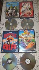 LOT OF 4 DISNEY PIXAR DVDS: TURBO, WRECK IT RALPH, BOLT, SHREK 2