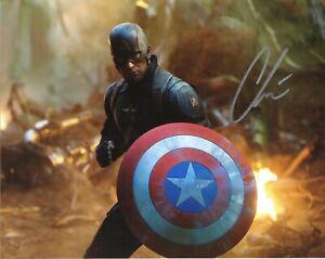 Chris Evans Autographed Avengers Infinity War 8 x 10 Photo With COA