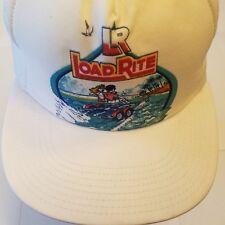 Load Rite Hat Vintage trucker snapback hat mesh boat trailer graphic lake Usa