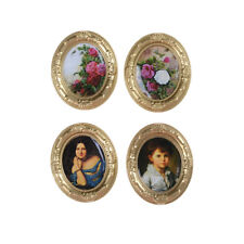 Miniature Dollhouse Framed Wall Painting 1:12 Scale Doll House Accessories;sT