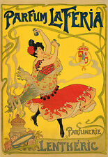 Vintage Perfume Advert Parfum la Feria Lentheric Spain  Poster Print