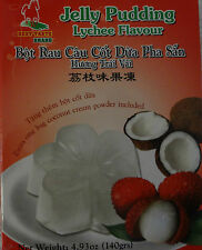 LYCHEE COCONUT GELATIN PUDDING DESSERT MIX QUICK AND EASY TO MIX ASIAN