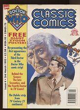DOCTOR WHO CLASSIC COMICS MAGAZINE-SIZED #4-1993-W/GIANT ZYGON POSTER-MARVEL