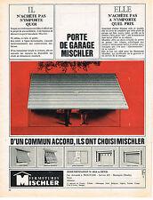 PUBLICITE ADVERTISING 014   1965   MISCHLER   fermetures portes de garage volets