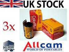 3 Pack: Kodak COLORPLUS 35mm 24 esposizioni a colori ISO 200 pellicola negativa, NUOVO