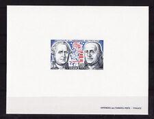 épreuve de luxe timbre France   bicentenaire des Etats Unis   1976  num: 1879