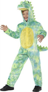Deluxe Dinosaur Costume, Green, with Hooded Bodysuit -  (Size: Smal COST-UNI NEW