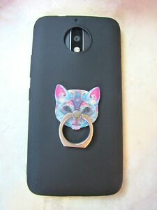 Tribal Cat Phone Ring Finger Grip Stand - Universal Kitty Mobile Cell Holder