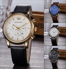 Men's Casual Watch Leather Strap Wristwatches Quartz  Business Case Luxury Gift