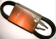 roxtone Câble de guitare Câble d'instrument Eco 3M Bleu Noir