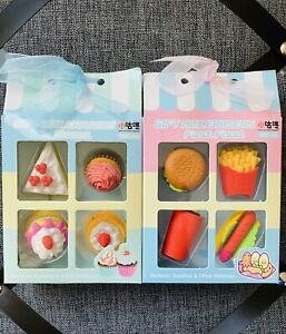 Sweet & Fast Food Eraser Set Of 2 Modeling Kawaii Stationery School Supplies