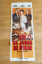 Affiche de cinéma : LES 55 JOURS DE PÉKIN de NICHOLAS RAY