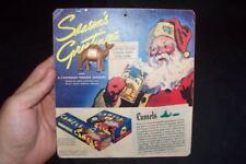 Vintage 1936 Camel Cigarettes Christmas Promo on Card