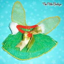 """CABBAGE PATCH KIDS MINI FAIRIES FAIRY 8"""" DOLL REPLACEMENT CHRISTMAS DRESS OUTFIT"""