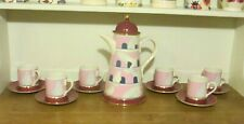 Carlton Ware Dovecote by Roger Michell Coffee Pot and 6 Coffee Cups + Saucers