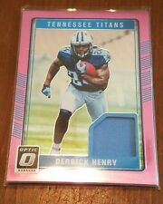 2016 OPTIC TENNESSEE TITANS DERRICK HENRY WORN ROOKIE JERSEY CARD
