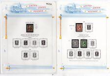 U. S. NICE EARLY #205 // #281 Mint & Used On Album Pages SCV. $760.00 (KK250)