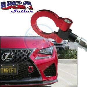 For Lexus IS, CT, RC Red Screw On Aluminum Front/Rear Car Trailer Tow Hook Kit