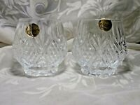 SET OF 2 CRISTAL D'ARQUES DURAND FONTENAY ? VOTIVE CANDLE HOLDERS FRANCE