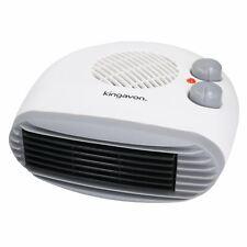 2KW Electric Flat Blow Fan Heater 2 Heat Settings Hot Warm Air Silent Run